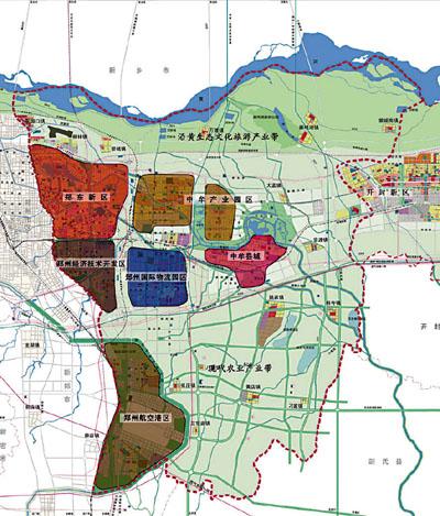 郑州航空港区 郑州港区最新规划图 郑州航空港区规划图
