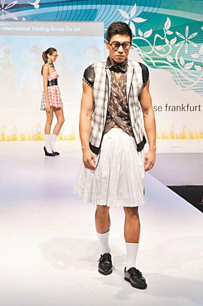 创新时装预览e主题�U淘气的书呆子 设计同学�U林茜欣