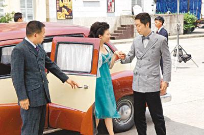 馬仔與內地新演員唐菱演對手戲。