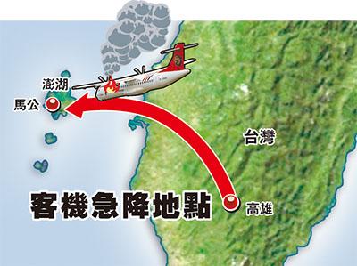 台灣客機迫降重摔起火