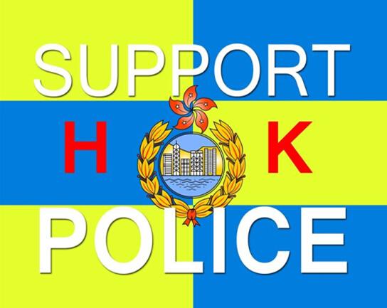向香港警察致敬!