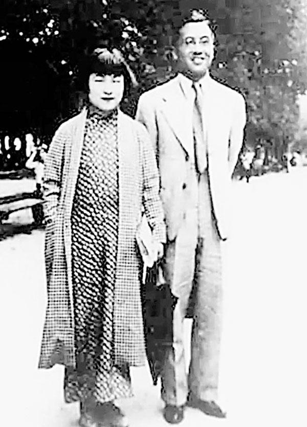 ■剛剛離世的中國文學國寶楊絳先生與丈夫錢鍾書一九三八年攝於巴黎盧森堡公園。作者提供