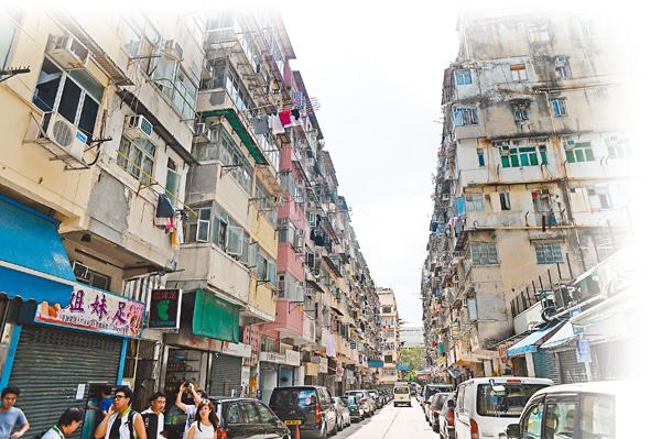 ■市建局昨日宣佈將同時重建土瓜灣鴻福街、銀漢街、啟明街及榮光街一帶的3個項目。圖為鴻福街。 梁祖彝  攝