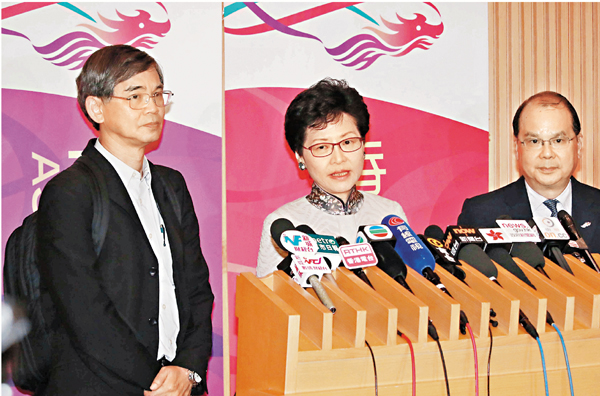 ■林鄭月娥昨日宣佈通過四項關愛基金援助項目,預計惠及3.62萬人。彭子文  攝