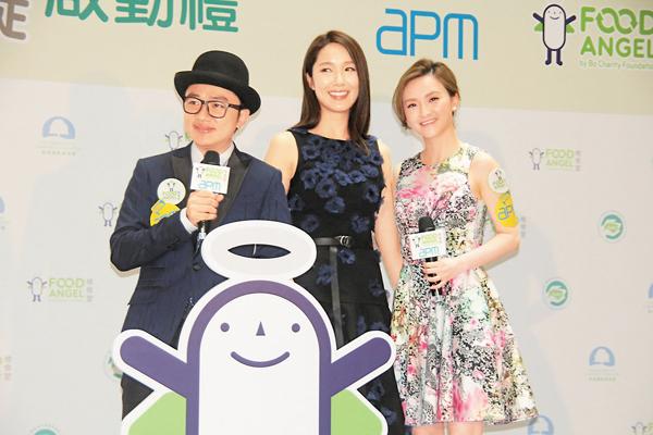 ■祖藍帶同旗下藝人李亞男、林欣彤出席活動。