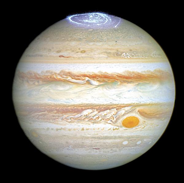 ■木星北極出現罕見極光。法新社