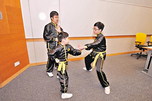 ■同時學習武術及武德的學生傾向用武德解決問題。  受訪者供圖