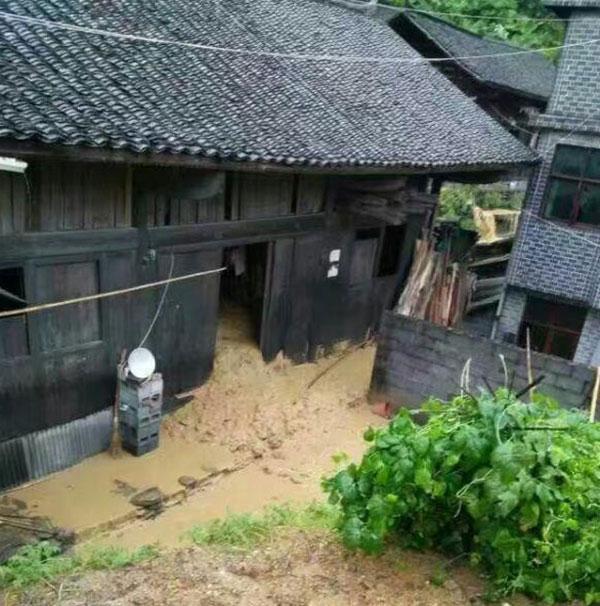 農戶的家已被泥漿掩埋 網上圖片