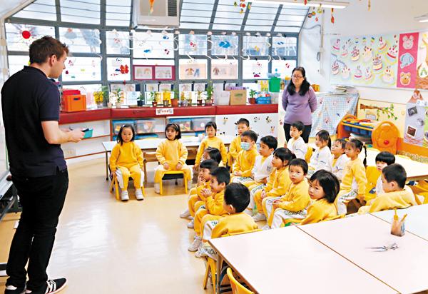 ■教大幼教課程競爭激烈。圖為一幼稚園上課情況。 資料圖片