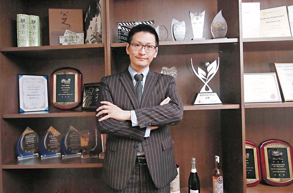 ■鄺海翔認為,香港創業條件最好。 記者彭子文  攝