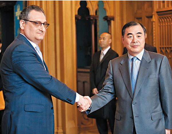 ■中俄28日在莫斯科舉行第四次東北亞安全磋商。新華社