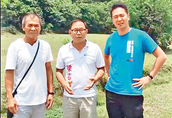 ■周浩鼎及梁志祥昨日到訪大嶼山拾塱村。 fb截圖