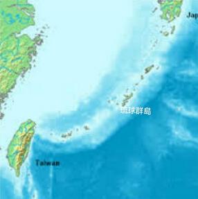 琉球群島位置。資料圖片