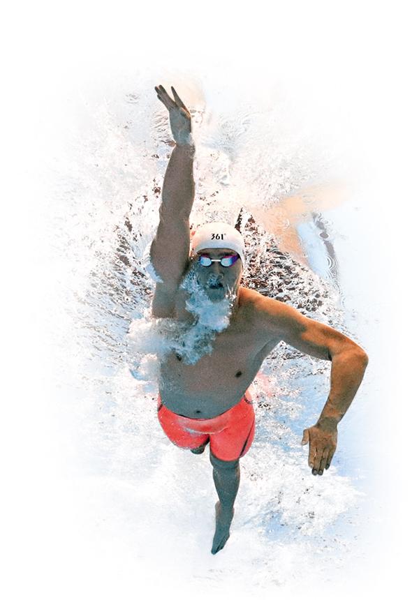 ■孫楊今戰1500米自由泳比賽。美聯社