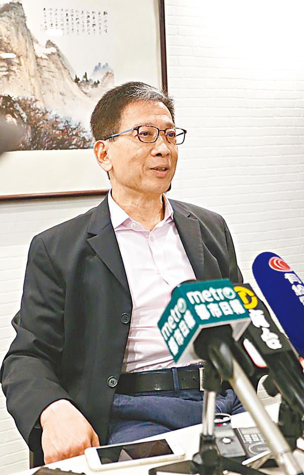胡漢清促律政司速頒「港獨」是刑罪