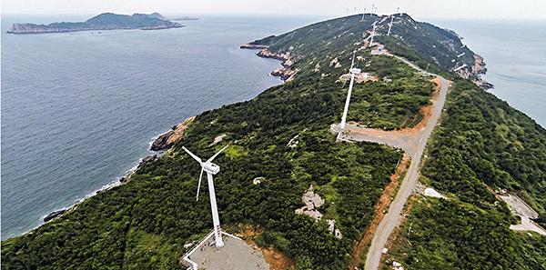 ■日本媒體稱,中國新建的軍艦碼頭建在南麂列島最大島嶼的南麂島上。圖為南麂島一角。 資料圖片
