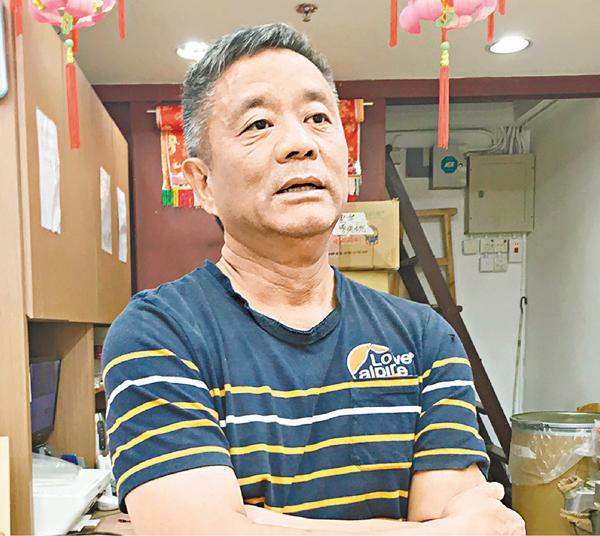 ■黃先生希望香港社會可以回復平靜。文森  攝