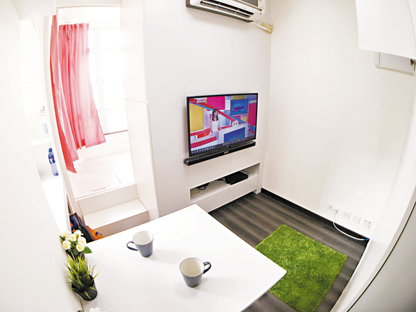 ■設計師Victor Mau將迷你單位變身兩房戶,原本只可住2人,變成可容納4人。 顏倫樂 攝