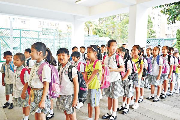 ■教育局推算,約有6.6萬名適齡學童將在明年升讀小一。 資料圖片