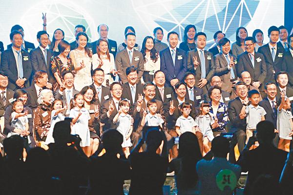 ■張曉明寄語香港青年思考自己在國家和平崛起和民族振興的歷史過程中有什麼角色和貢獻。 劉國權 攝