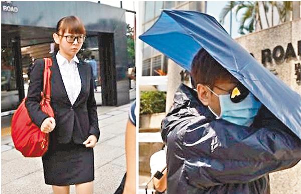 ■涉案女學護簡媛茌(左)否認蓄意傷害舊情人鄭柏堯(右)。
