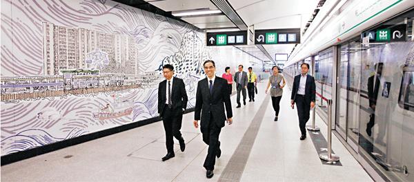■港鐵開記者會介紹觀塘線延線工程的最新進度。 曾慶威  攝