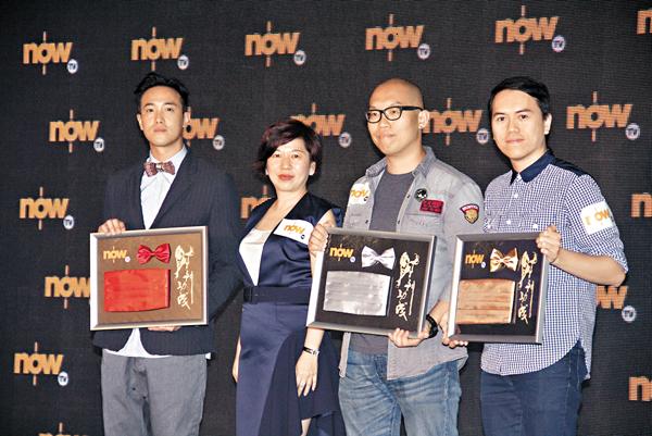 ■曾國祥(左一)入圍金馬獎角逐最佳導演,他表示難以置信。