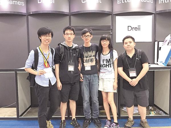 ■團隊赴東京遊戲展2016參展。 受訪者供圖