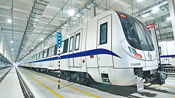 ■深圳地鐵7號線列車。 本報深圳傳真