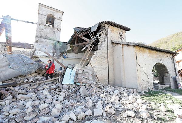 ■具歷史價值的中世紀教堂被摧毀。 美聯社
