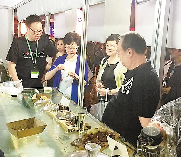 ■林鄭月娥與林建岳昨晚赴美酒佳餚巡禮捧場。