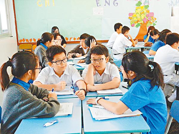 ■學生在課堂上討論古代戰爭中致勝的關鍵。黎忞  攝