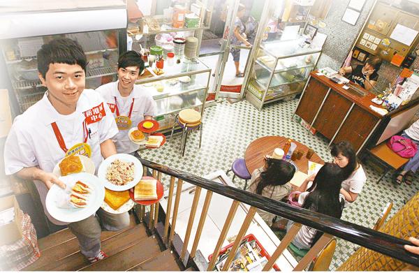 ■茶餐廳的食物和裝修體現了本土文化和全球化。 資料圖片