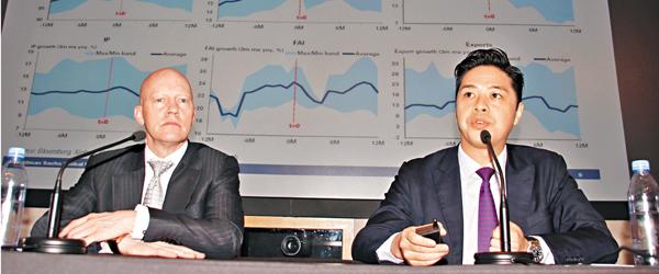 ■劉勁津(右)稱,深港通將提高A股獲納入MSCI的機會率。 張偉民  攝