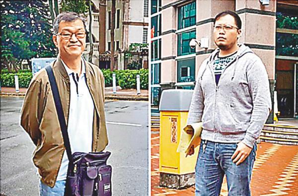 ■李政熙(右)涉將陳俊東(左)推倒地上,李被控普通襲擊罪表證成立。