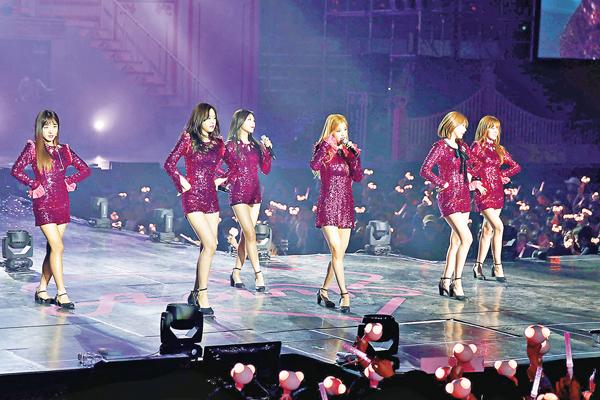 ■韓女團APINK將於2月來港。