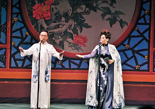 ■陳輝鴻師父和孫鑽麗師徒雙平喉合唱一曲《何處還家夢》,充分演繹曲中人物的情與意。