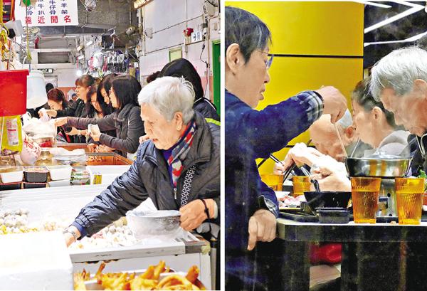 ■氣溫驟降,不少市民選購食材打邊爐。 岑志剛  攝
