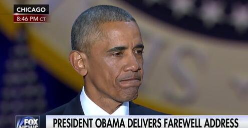 奧巴馬在演講中眼眶泛紅(視頻截圖)