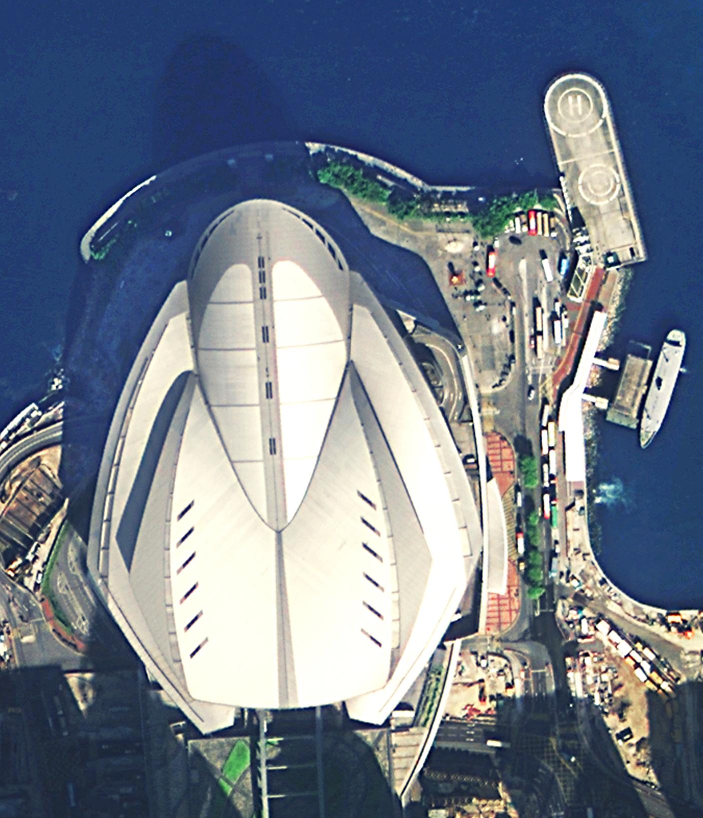 高景一號獲得的香港會展中心圖像。(四維測繪供圖)
