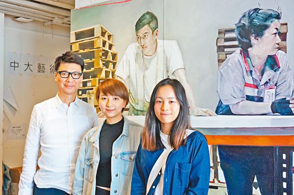 ■(左起)譚偉平、陳嘉翹與蔡尉汶。