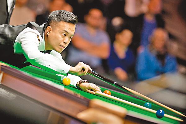 ■傅家俊在比賽中。World Snooker圖片
