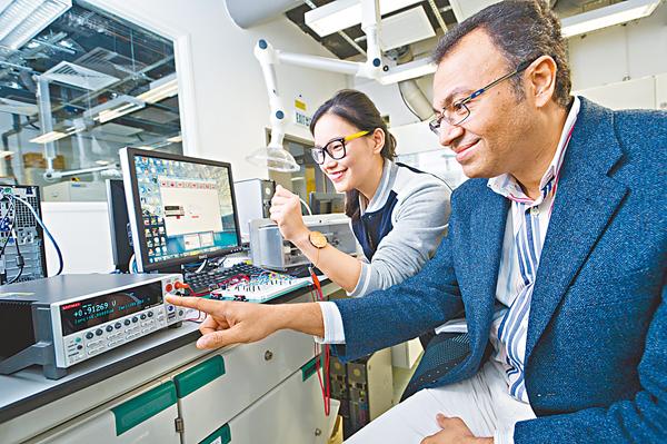 ■研究團隊包括Walid Daoud(右)和博士研究生楊希婭。 校方供圖