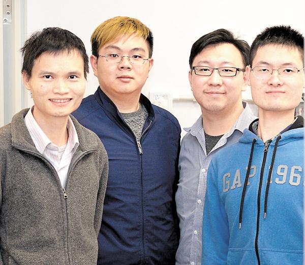■中大物理系生物物理研究團隊,發現全新的細菌集體振盪規律。左為助理教授吳藝林。 中大供圖