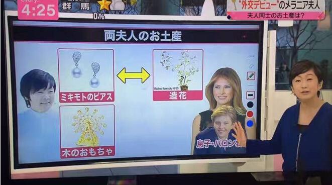 摩天輪拼圖被安倍昭惠作為「國禮」送給梅拉尼婭·特朗普(日本電視截圖)