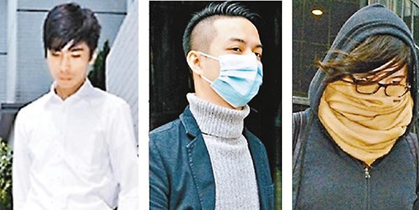 ■旺暴案三名被告,左起:麥子晞、薛達榮、許嘉琪。資料圖片