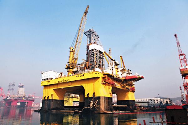 ■「藍鯨1號」可提升30%作業效率,節省10%的燃料消耗。 本報深圳傳真