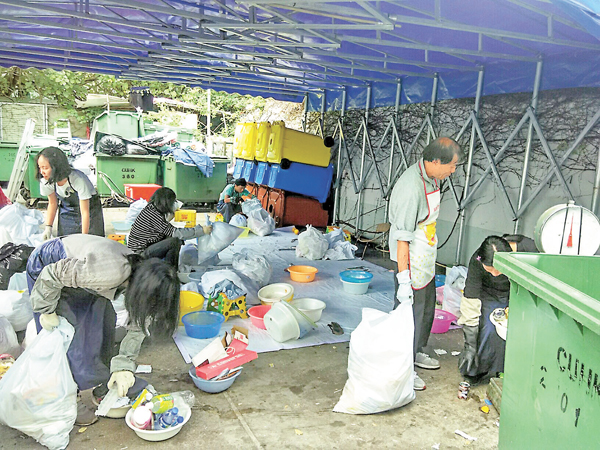 ■中大「廢物收費和廢物審計」試行計劃。 資料圖片