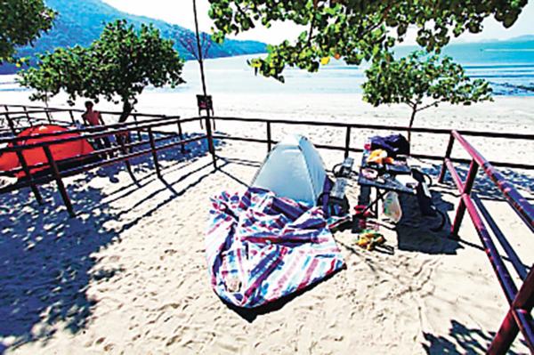 ■簡單如沙灘上的帳篷,只要住得舒適,也可以是a home from home。 資料圖片