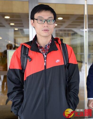 被告「熱血公民」成員陳柏洋(記者 林良堅 攝)。